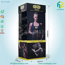 store paper standing display shelf for t-shirt promotion