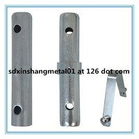 9'' Scaffolding Joint Pin For Stacking Frames 1/8'' Collar