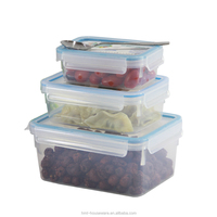 Best selling 2.3 liters takeaway plastic heat resistant food container refrigerator and freezer storage organizer bins stackable