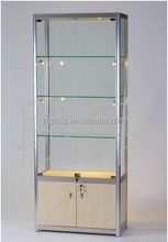 Modern hot sale small glass jewelry showcase/glass display case/display cases