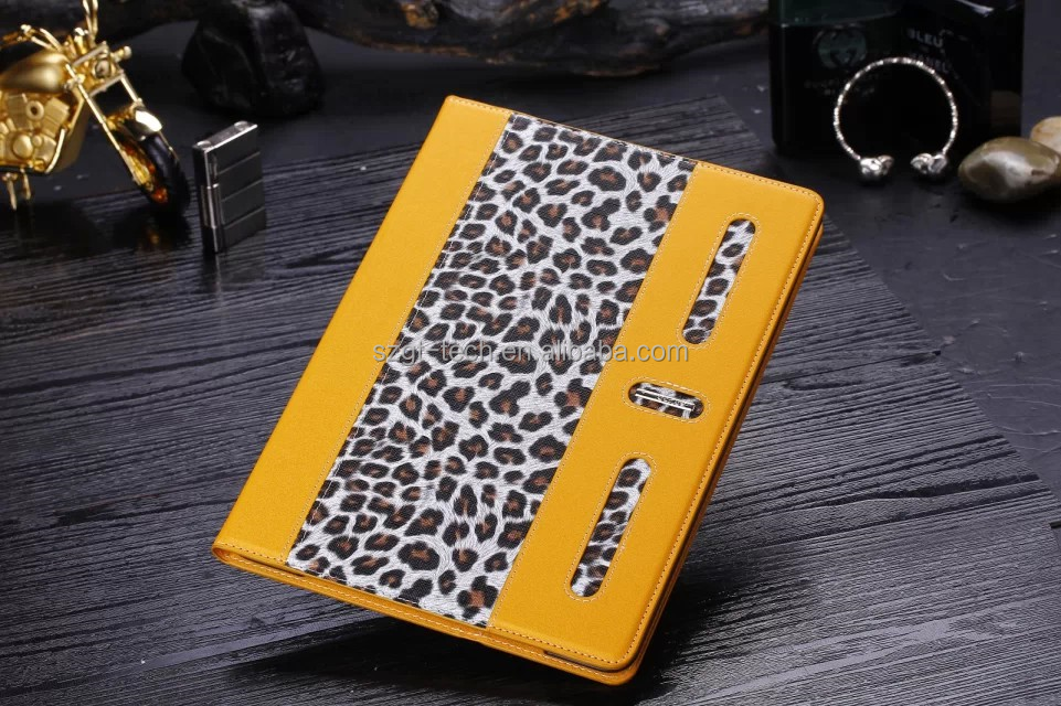 oem design Splice leopard 360 rotating sublimation tablet cover for ipad air 2 case