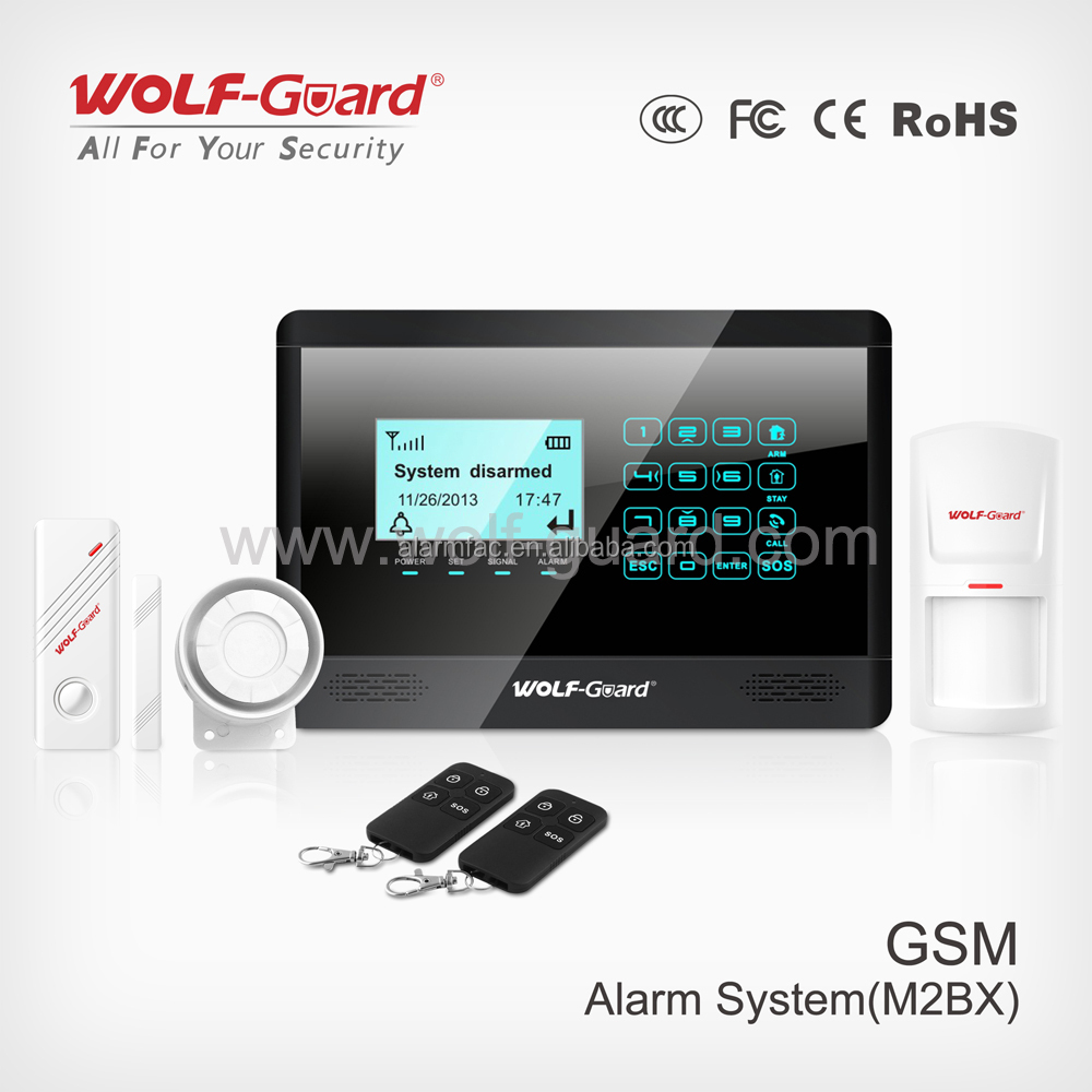 Wireless GSM Mobile Call Home Burglar Alarm System, Intercom Wireless Home Security,Support SMS and Dialing Alarm,SOS, Fire, Gas