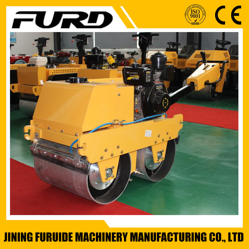 600kg smooth drum hand roller compactor with top quality (FYLJ-S600C)