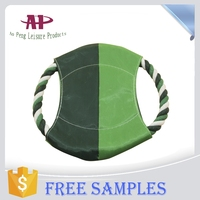 Factory Price Frisbee Dog Toys With Cotton Rope For Training