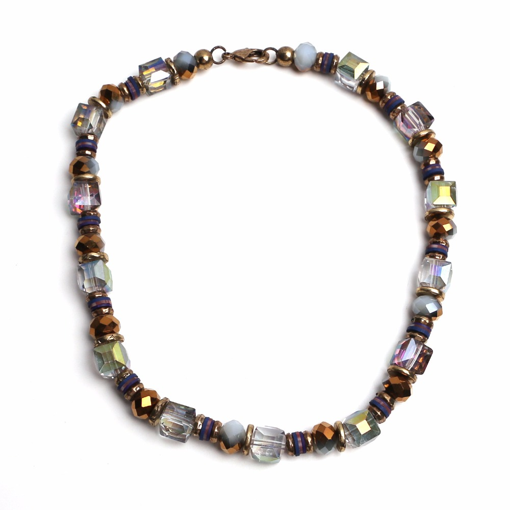 jewelry sets dubai mix crystal stone beads choker necklace