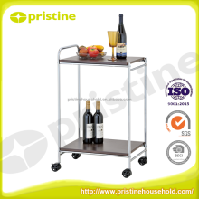 Kitchen Furniture manufacuturer 2 tier metal mini kitchen food cart