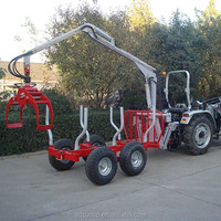 atv log trailer with grapple equipment,log trailer with crane
