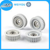 plastic molded parts plastic wheels for machine