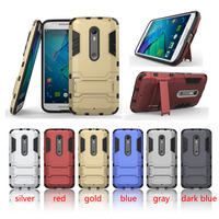 Hybrid Combo TPU PC Shockproof Kickstand Cover Case For Motorola Moto X Style
