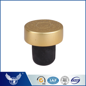 Latest design two colored Aluminium cork stopper for wine bottole