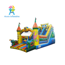 0.55MM PVC Kids Giant Inflatable Playground,Big Bouncer With Slide For Sale