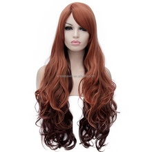 Gradient Color Lolita Girls Cute Wavy Curly Party Women Cosplay Wig Long