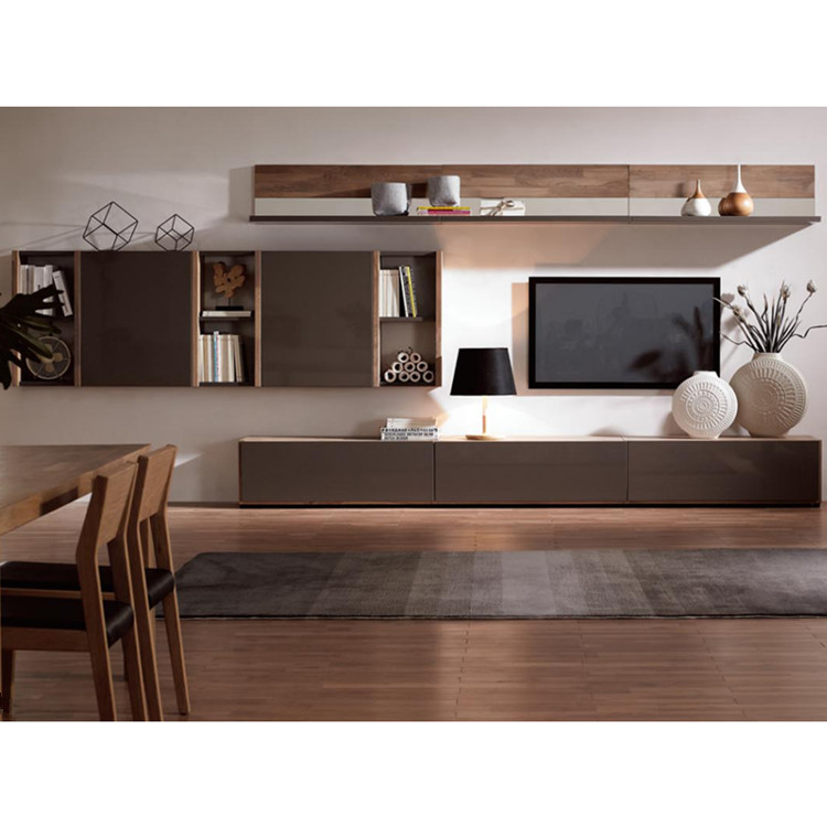 Living Room TV Showcase Designs, Wood Veneer TV stand