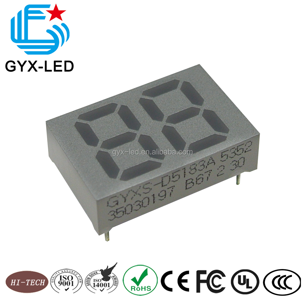 OEM display 2 digit 7 segment display with good quality control sliver film