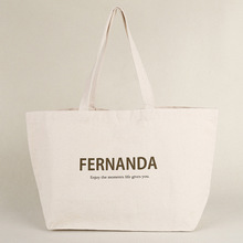 Wholesale eco production OEM standard size canvas tote bag custom logo