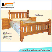 Bigseven Factory supply simple design pine wood bedroom furniture