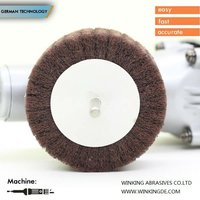 non-woven nylon polishing abrasive flap wheel with sanding paper for metal