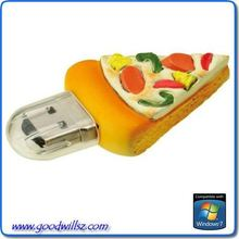 Pizza shaped usb 2.0 flash drive/flash disk