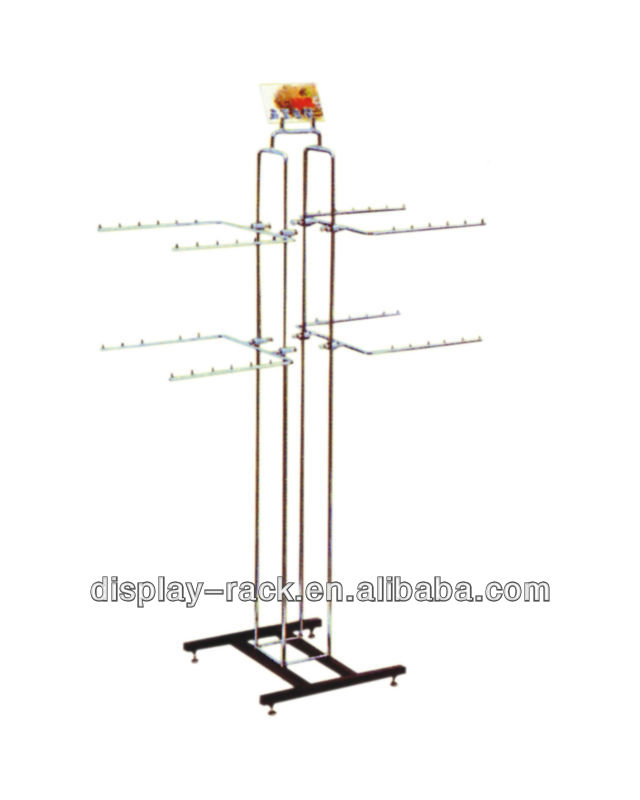 Brand shop floor standing clothes rack moving HSX- 996