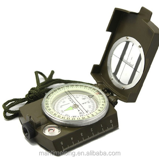 American Noctilucent Mini Compass Handheld Multi-function Outdoor Camping Tourism Navigation Waterproof