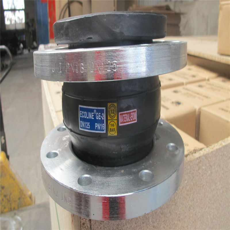 Flange connection EPDM rubber expansion joint