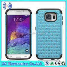 Hybrid Bling Diamond Crystal Case 3 in 1 High Impact Heavy Duty Hard Rugged Rubber cell phone covers for Samsung Galaxy S5 mini