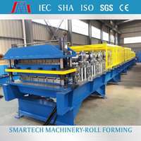 Double layer roofing sheet making machine used metal roll forming machine sheet metal perforating machine