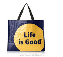 customized eco-friendly printed pp woven shopping bag