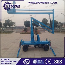 Good quality hydraulic small self propelled telescopic boom lift