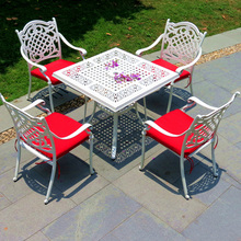 Outdoor aluminium tables and chairs garden use square shape