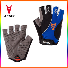 colourful damping of silica gel pad summer half finger mountain bike gloves