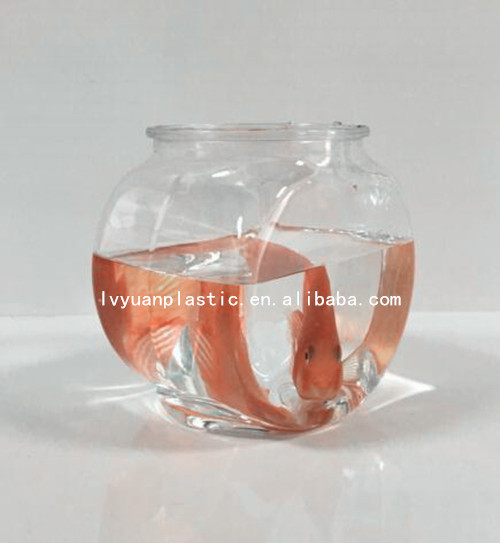 Clear PET Flat Plastic Fish bowl ,plastic bowl for fish wholesale