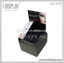 customized advertising hot sale cardboard makeup counter display eyeshadow display stand