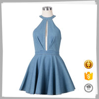 New Model Casual Design sexy denim women frock dress names