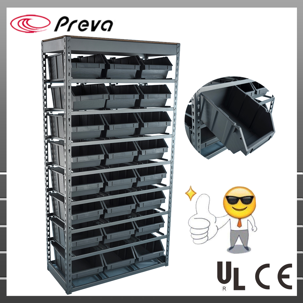 "64''x 34'' x 15"" Commercial Bin <strong>Rack</strong> With 24 Plastic Bins"