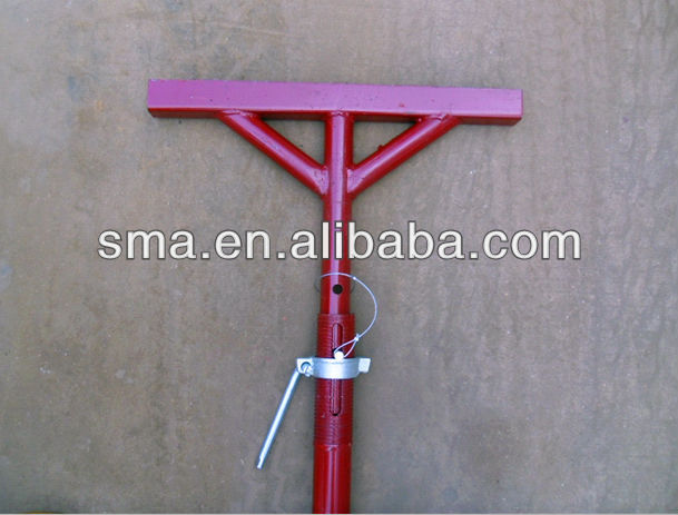 Adjustable T Head Post Prop for Concrete Beam Support
