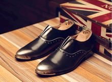 Fashion Italian designer formal mens dress shoes genuine leather luxury shoes