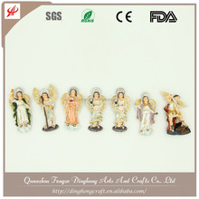 Wholesale Resin Angel and Cross Religious Crafts Angel Plaster