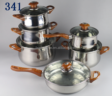 Luxury Stainless Steel High Grade Cookware Set 12 PCS Cooking Pots