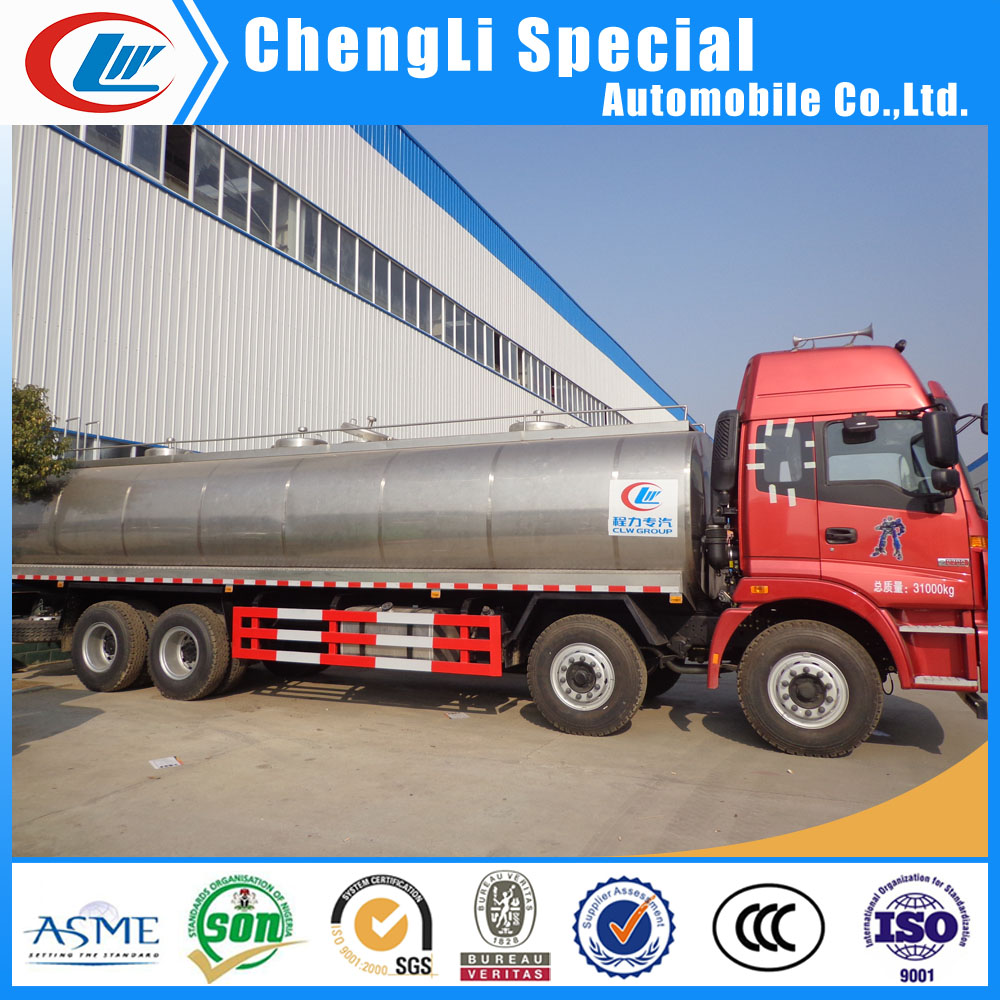 304 food grade steel milk tank for transporting milk Foton dongfeng howo 8x4 truck heavy duty stainless steel truck milk tank