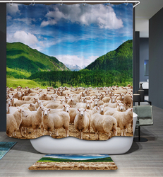 marvelous beauty polyester digital printing shower curtain