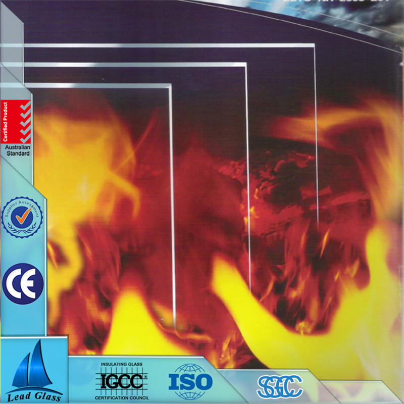 Fireproof frameless fire rated glass doors