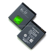 China factory price mobile phone battery BL-5F 3.7V 900mah for Nokia 6290/E65/N95/N931/6210N/N96/N98/6210S/6710N/N99