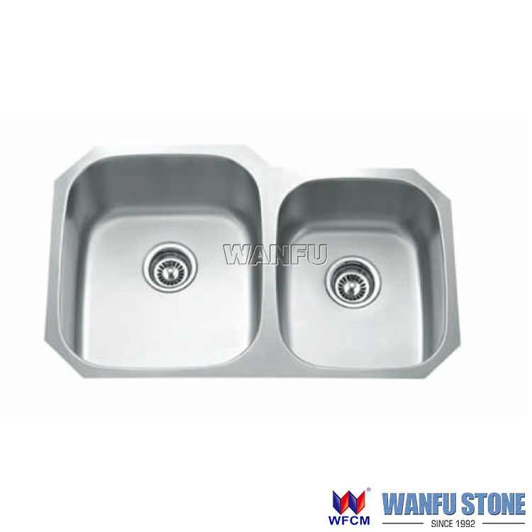 Stainless Steel Kitchen Sink 80/20 Double Bowl Under Mount Stainless Steel Sink