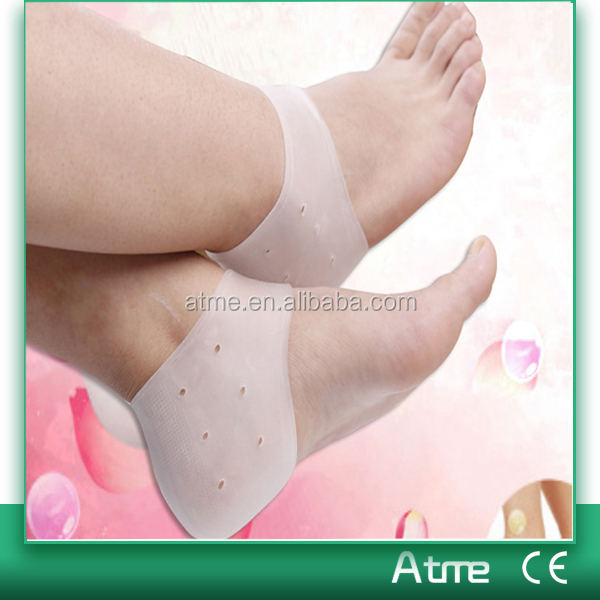 Foot pain relief anti dry foot care products soft silicone gel heel covers