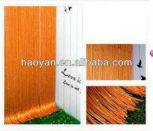 string curtain orange color for shop,bar,cafe