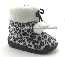 brand name kids snow boots cheap leopard snow boots