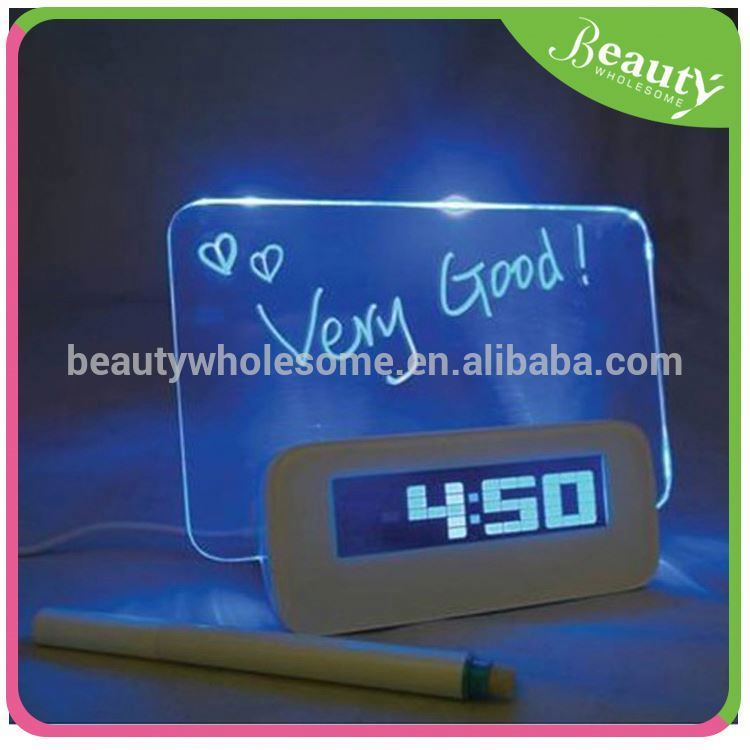 Color LCD backligh writing message alarm clock / thermometer
