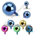 16g anodized skin diver piercing ball dermal anchor