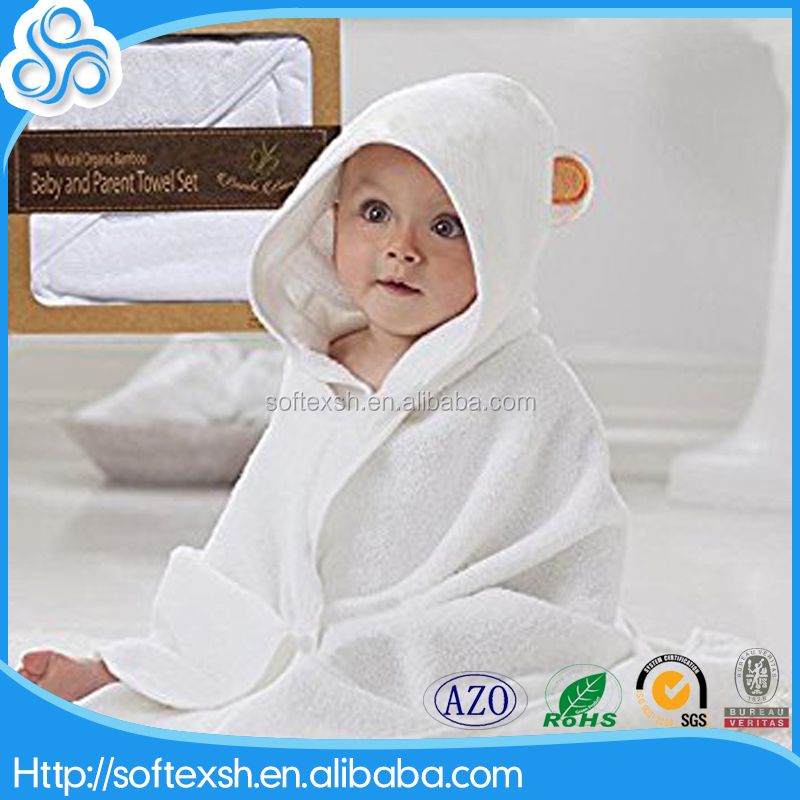 2017 hot bamboo baby hooded towel with bear ears